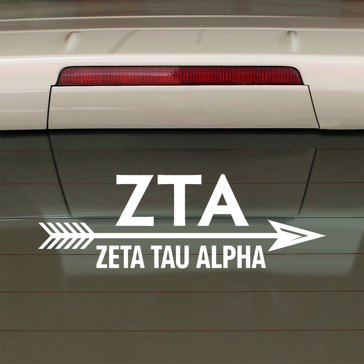 Brit and Bee Sorority Arrow Decal - Zeta Tau Alpha