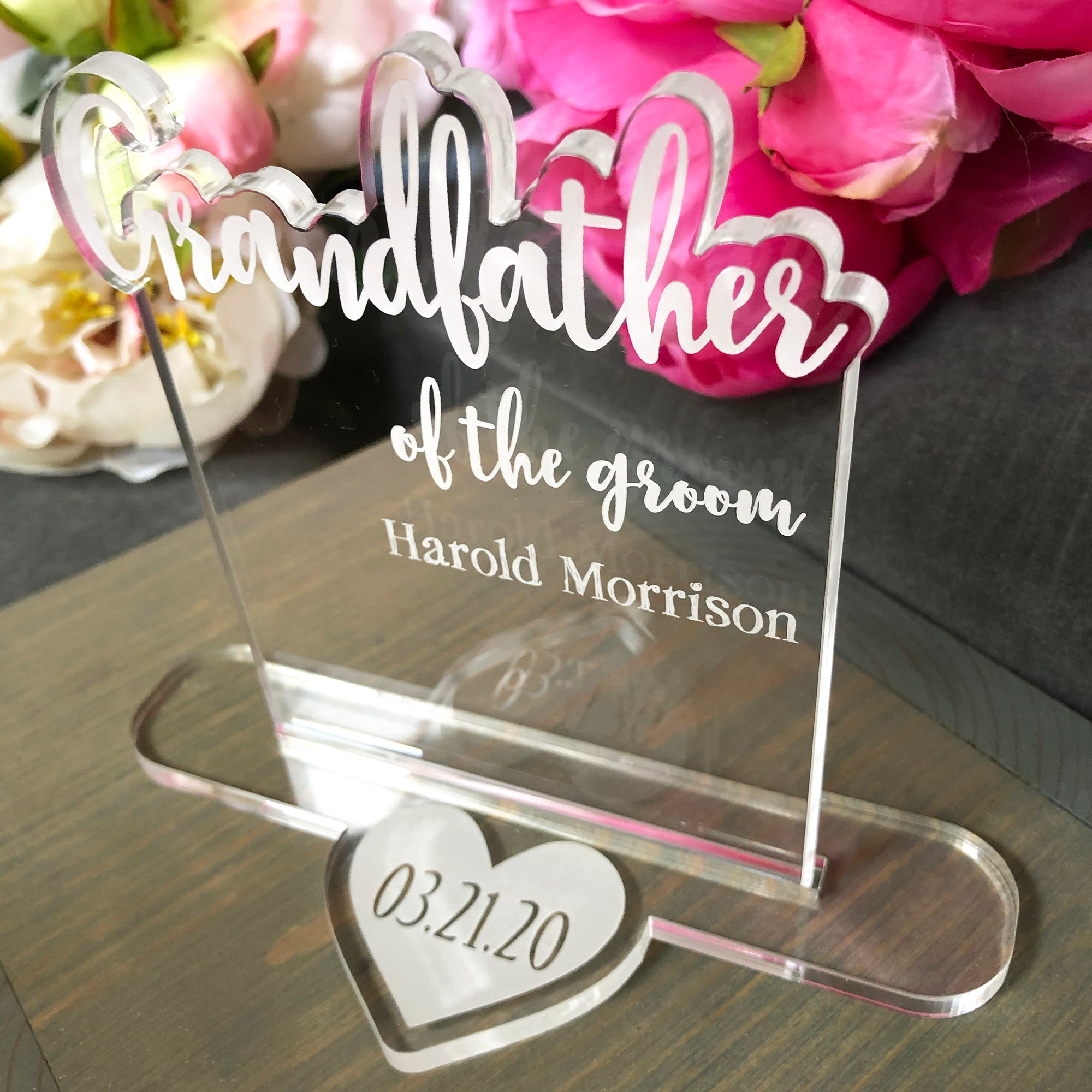 Grandfather of the Bride or Groom Wedding Table Sign | Brit and Bee