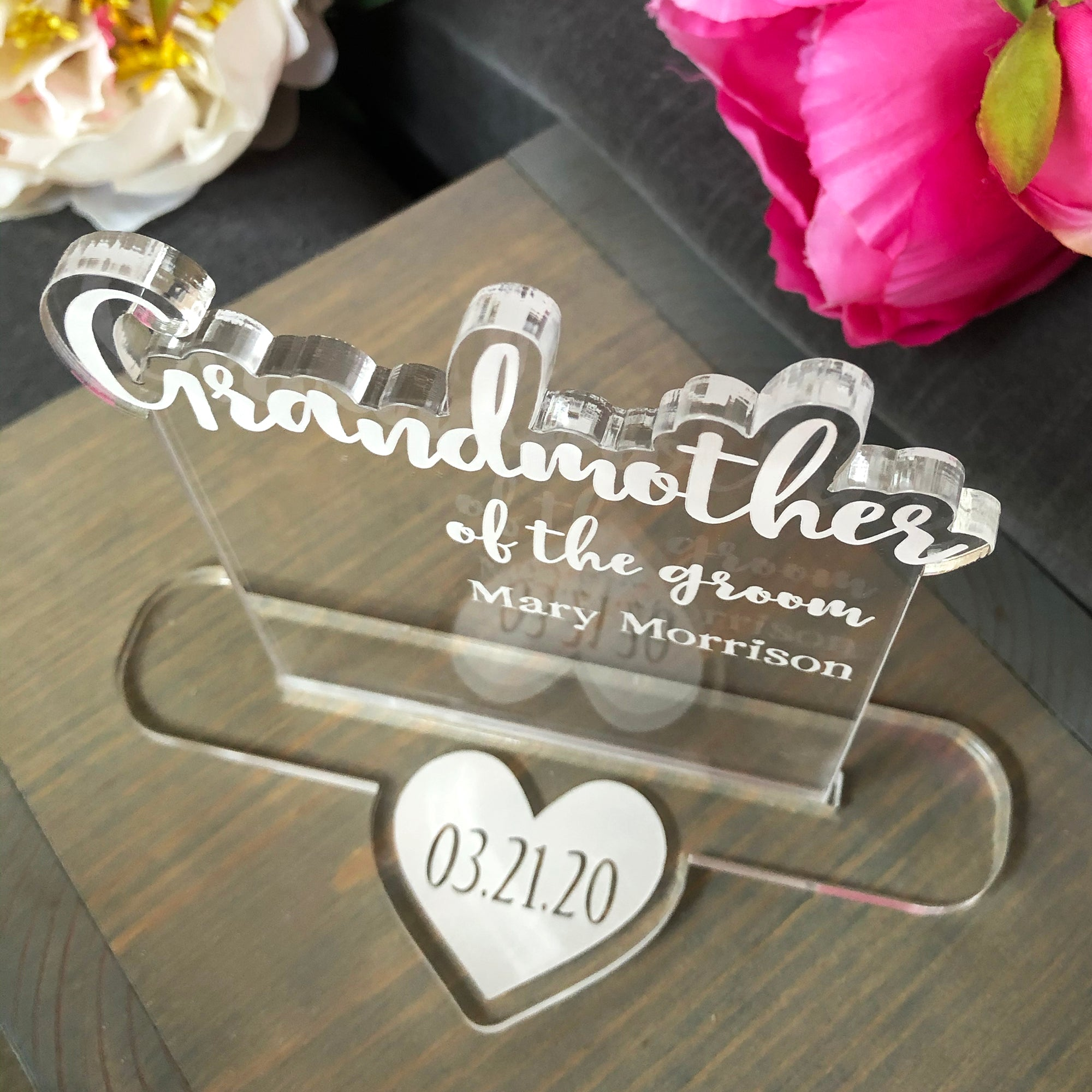 Grandmother of the Bride or Groom Wedding Table Sign | Brit and Bee