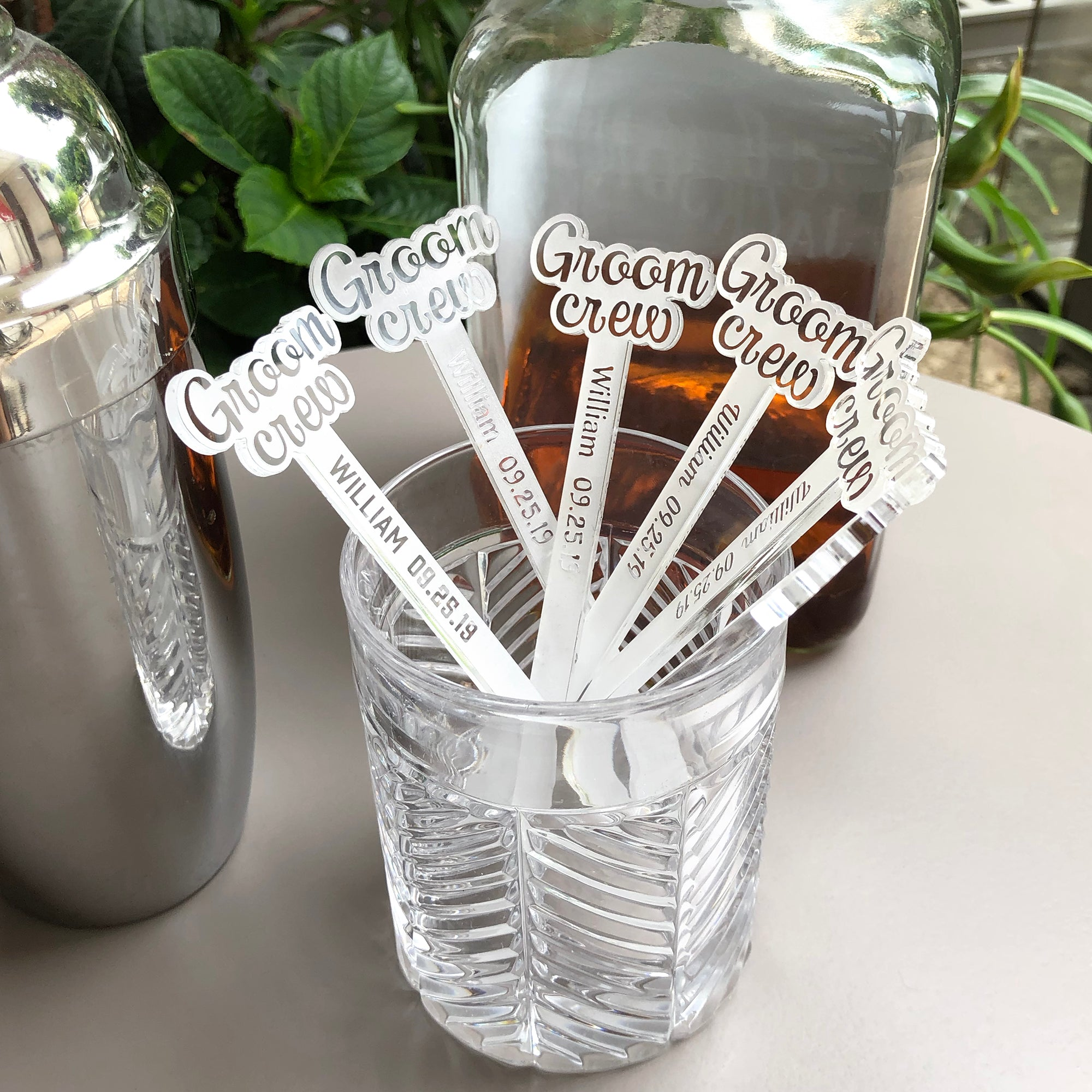 Groom Crew Swizzle Sticks | Brit and Bee