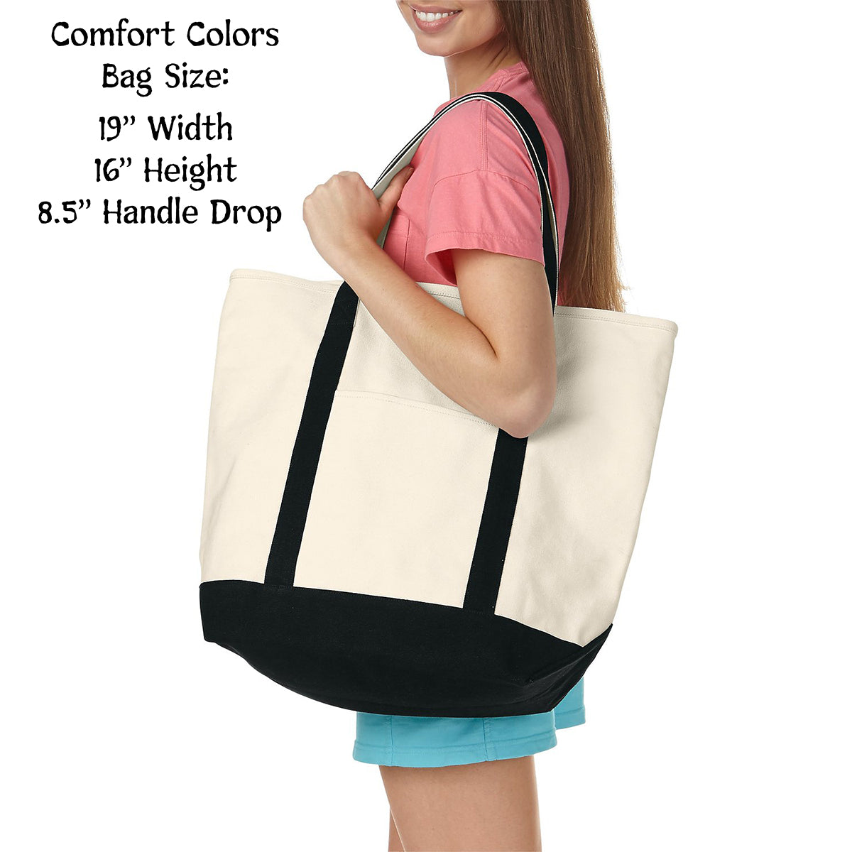 Delta Zeta Comfort Colors Tote Bag | Brit and Bee