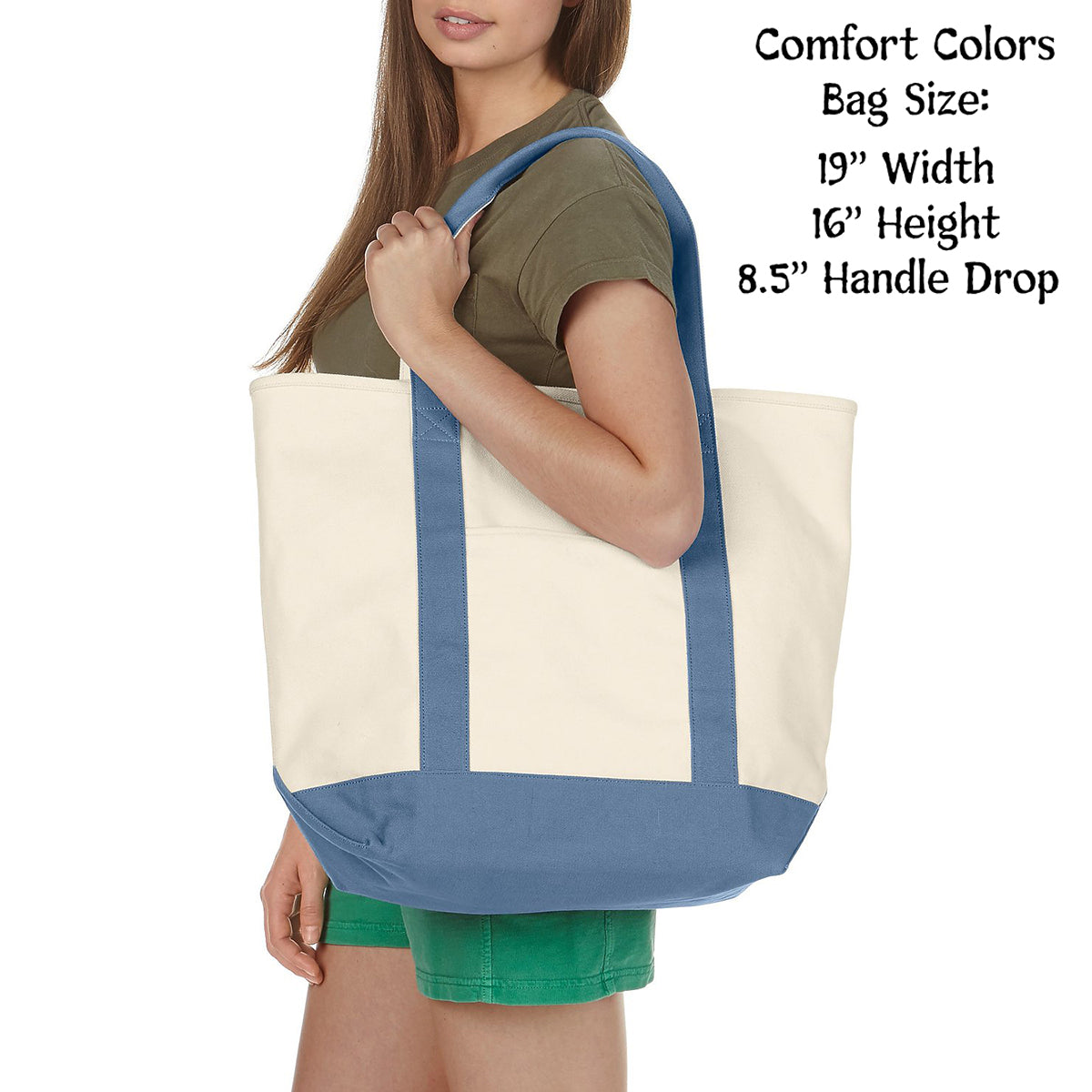 Kappa Kappa Gamma Comfort Colors Tote Bag | Brit and Bee