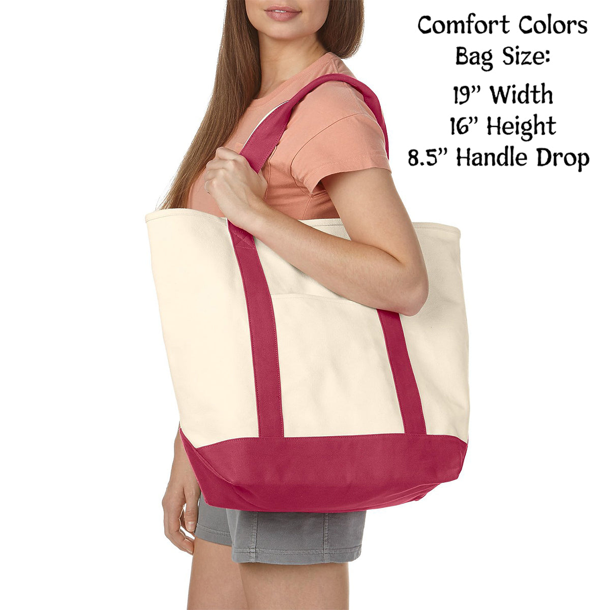 Alpha Chi Omega Comfort Colors Tote Bag | Brit and Bee