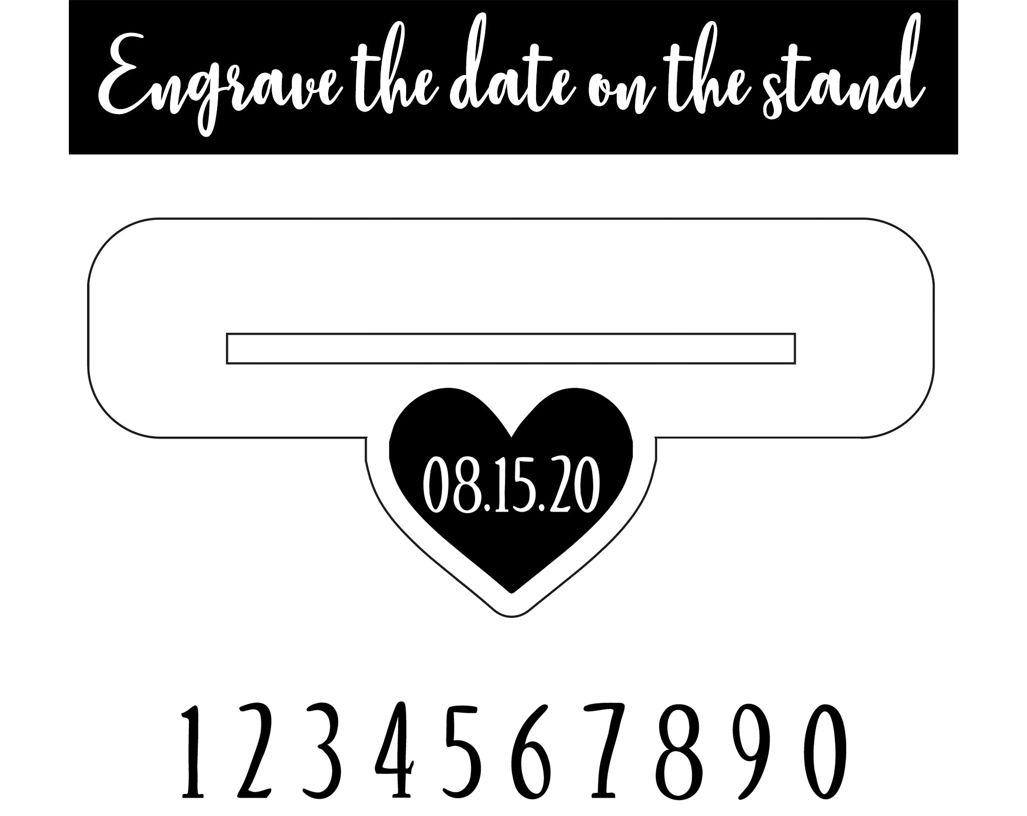 Wedding Table Number Sign | Brit and Bee