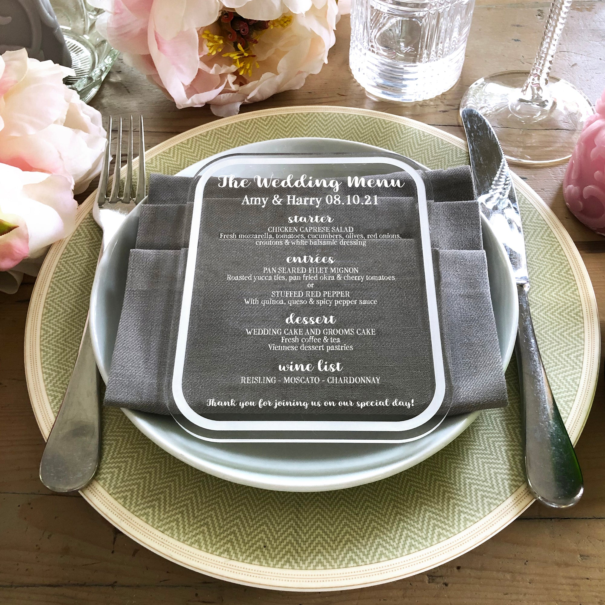 Wedding Menu | Brit and Bee