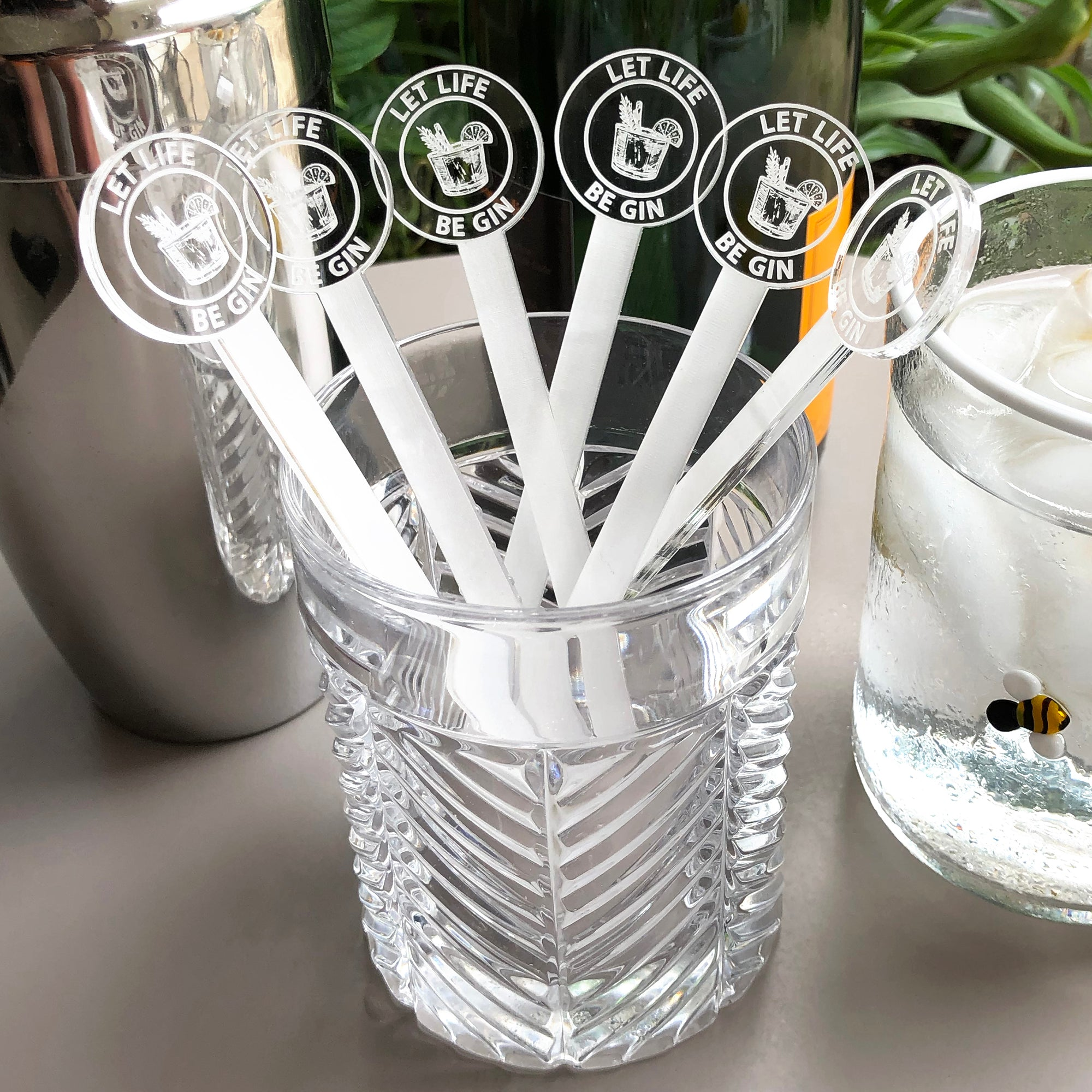 Let Life Be Gin Swizzle Sticks | Brit and Bee
