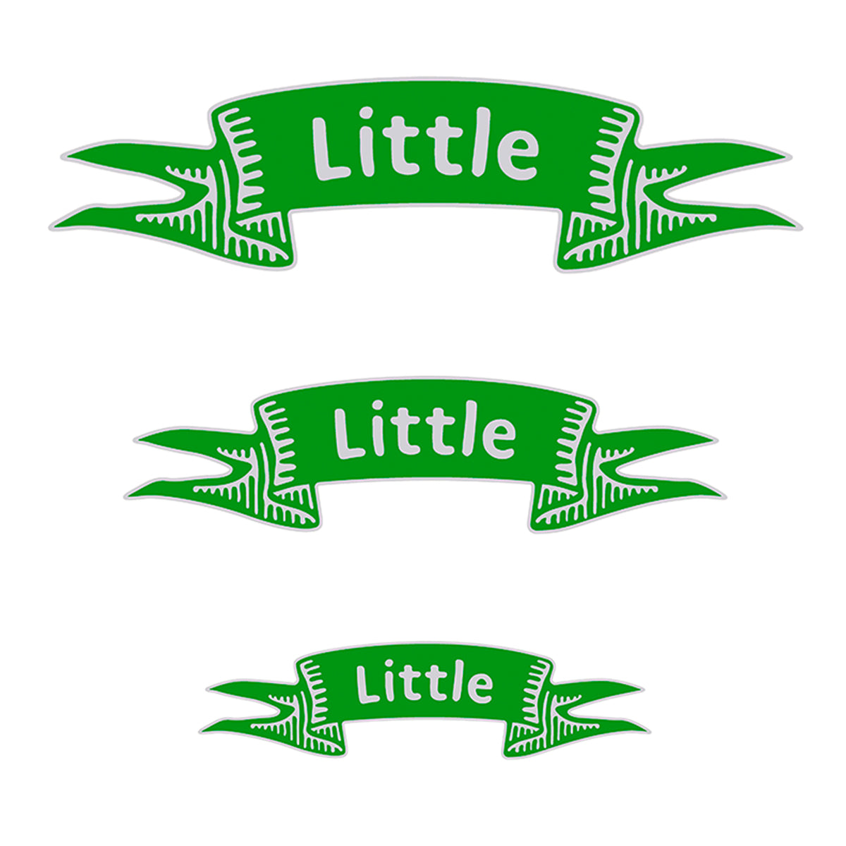 Little Ribbon Decal - 3 Pack | Brit and Bee