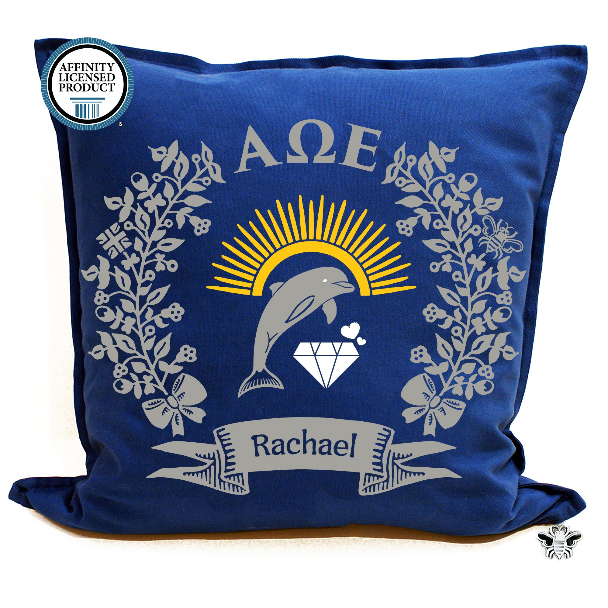 Alpha Omega Epsilon Pillow | Brit and Bee