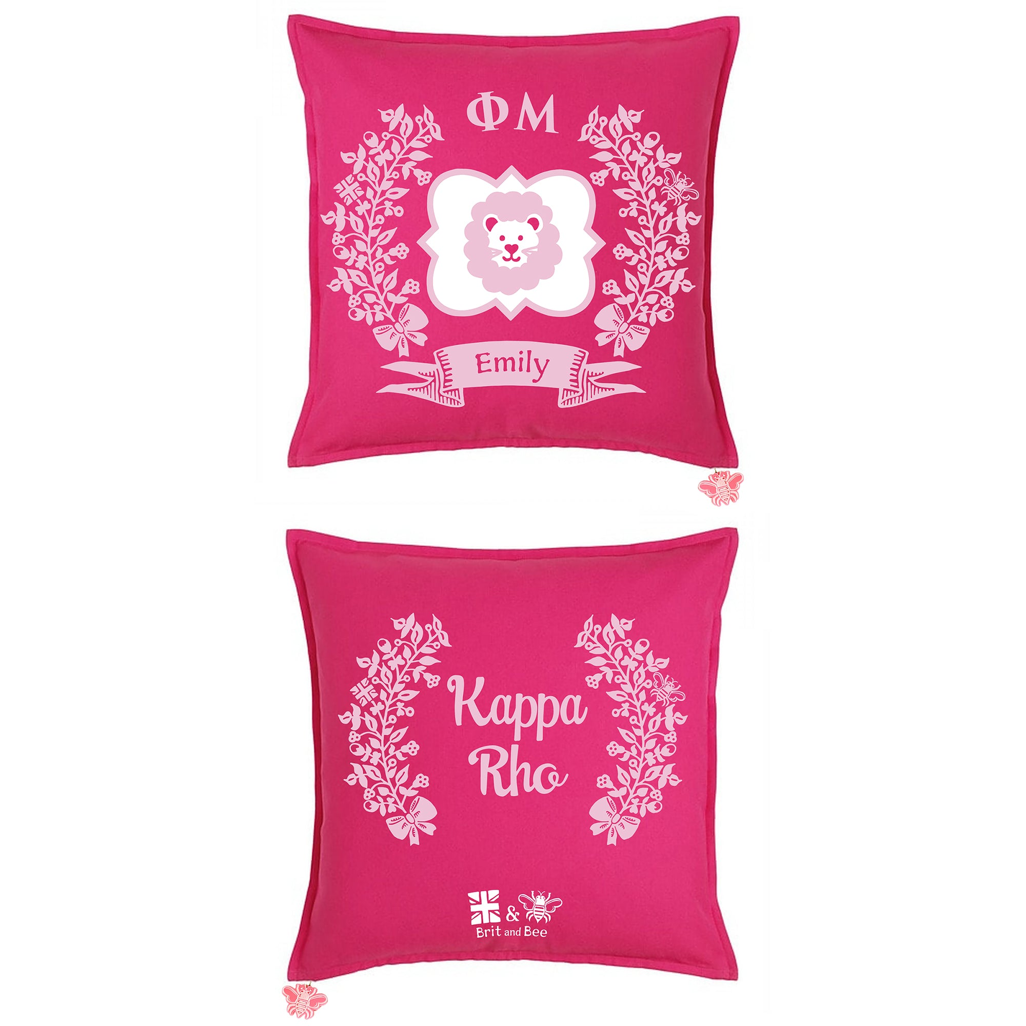 Phi Mu Sorority Pillow | Brit and Bee