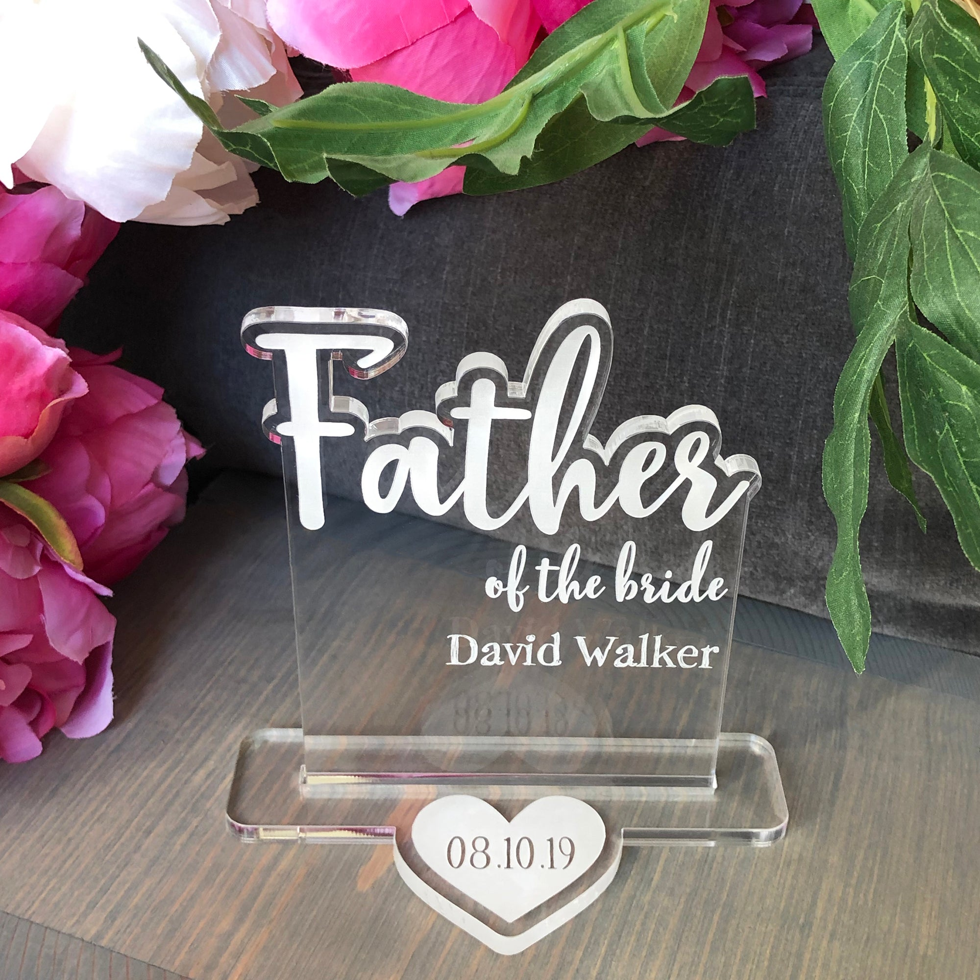 Father of the Bride Wedding Table Sign | Brit and Bee