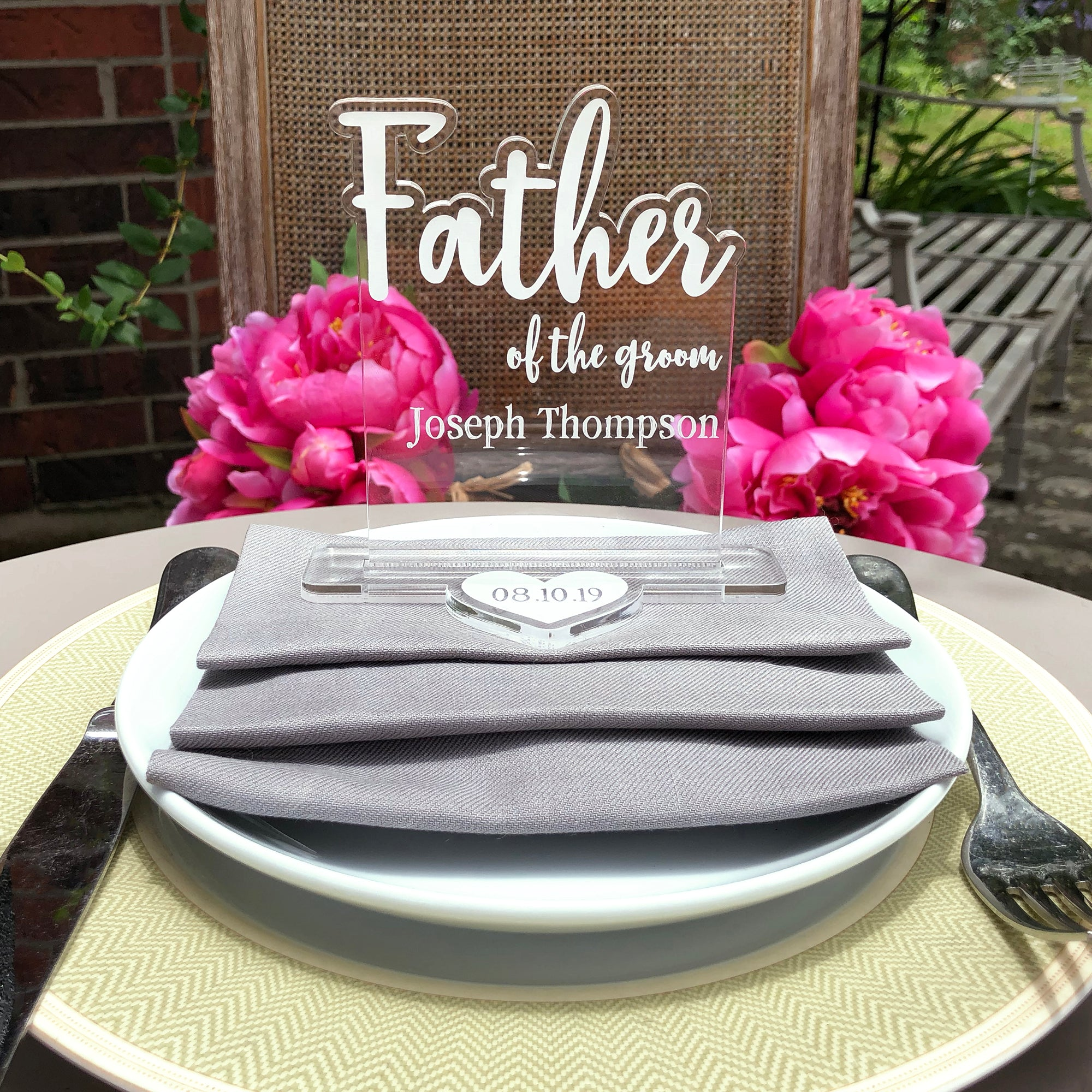 Father of the Groom Wedding Table Sign | Brit and Bee