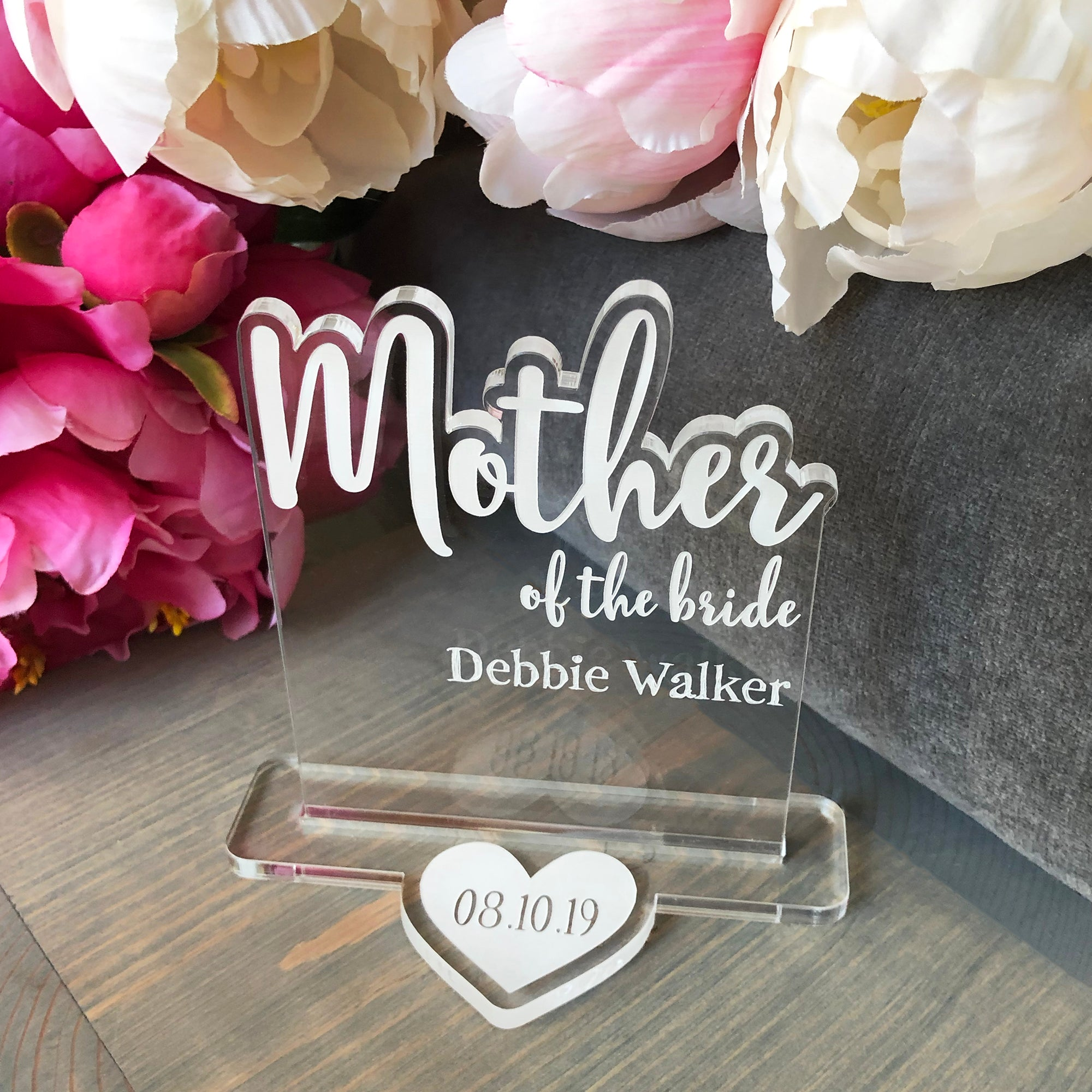 Mother of the Bride Wedding Table Sign | Brit and Bee