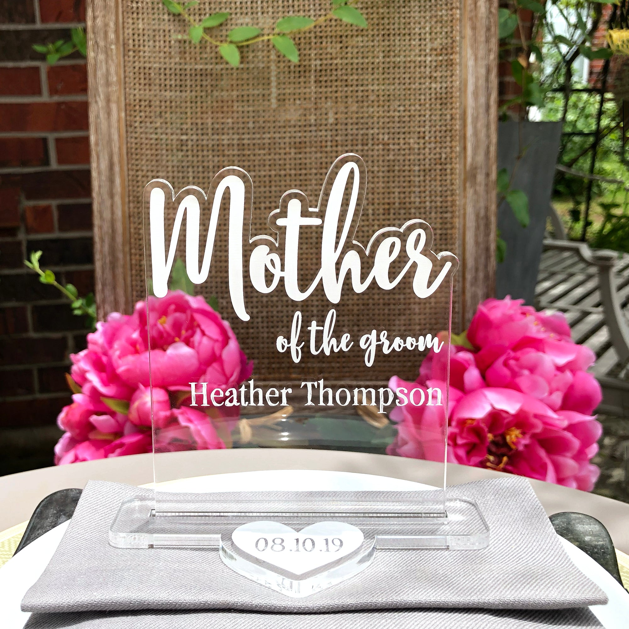 Mother of the Groom Wedding Table Sign | Brit and Bee
