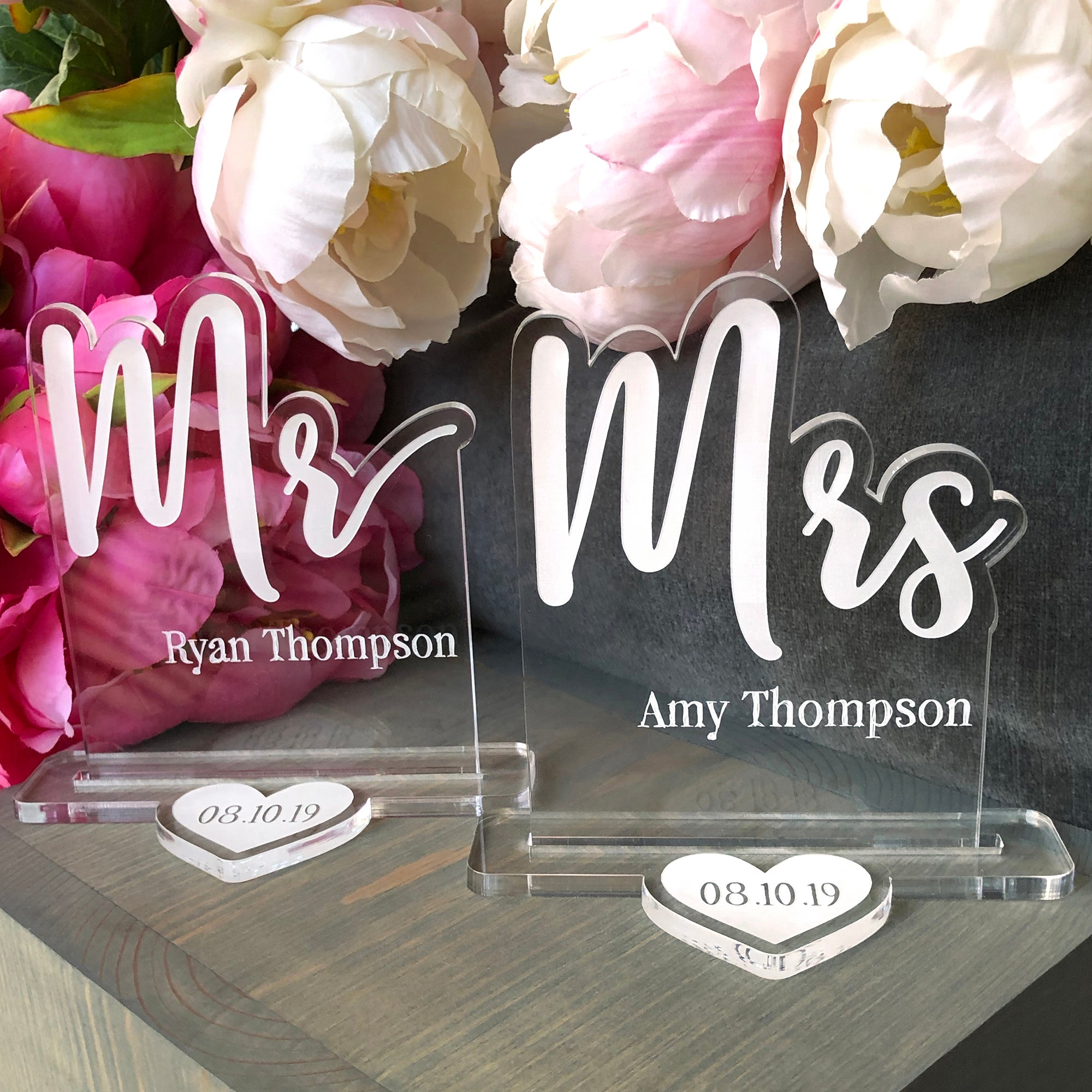 Mr and Mrs Wedding Table Sign | Brit and Bee