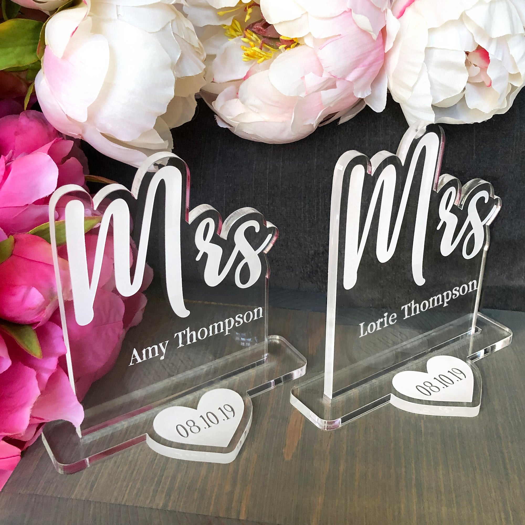 Mrs and Mrs Wedding Table Sign | Brit and Bee
