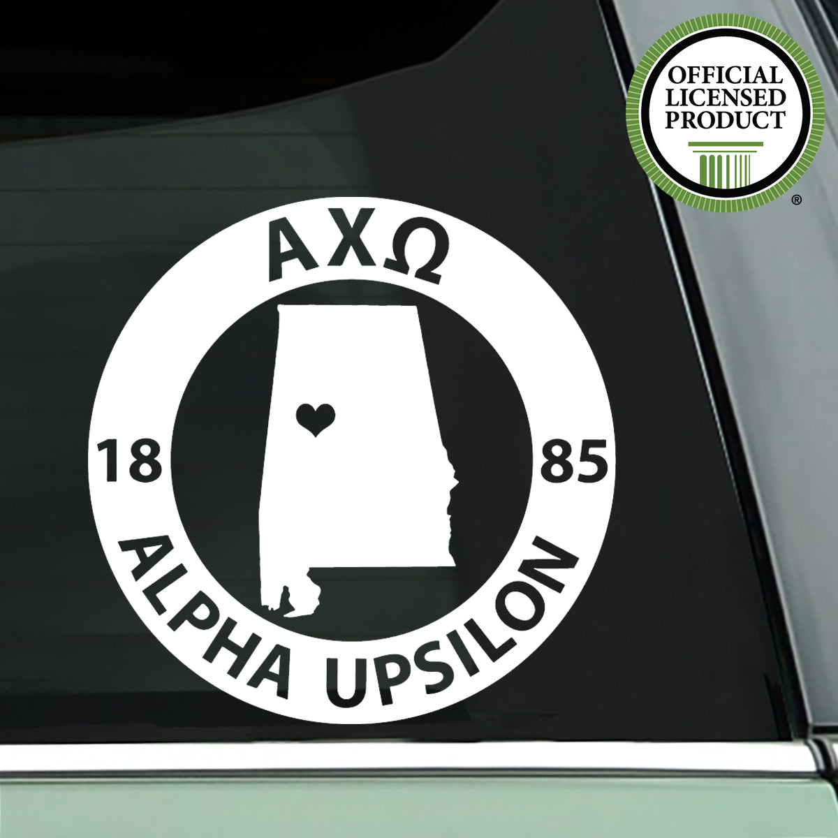 Brit and Bee Sorority State Decal - Alpha Chi Omega