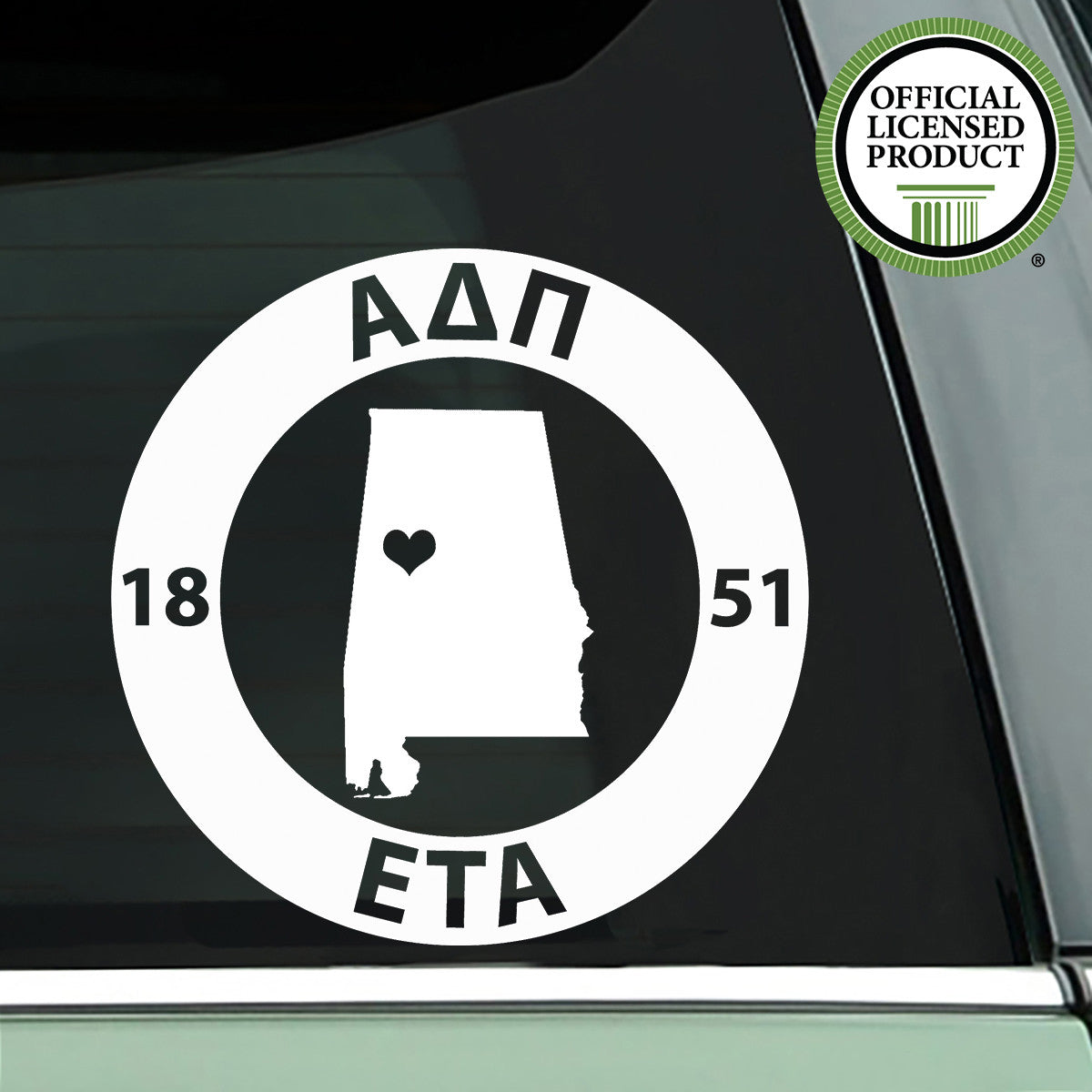 Brit and Bee Sorority State Decal - Alpha Delta Pi