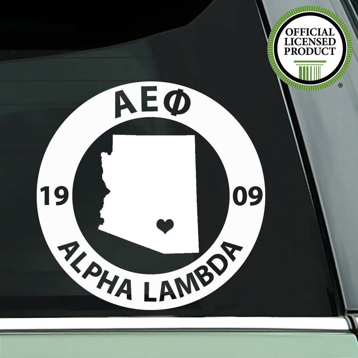 Brit and Bee Sorority State Decal - Alpha Epsilon Phi