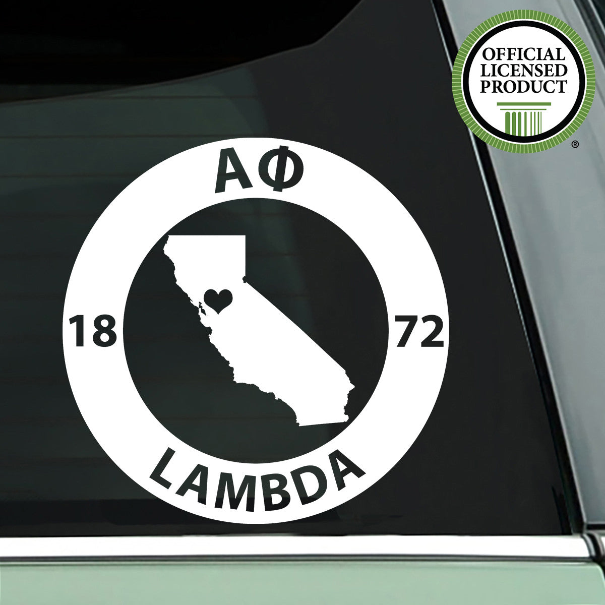 Brit and Bee Sorority State Decal - Alpha Phi