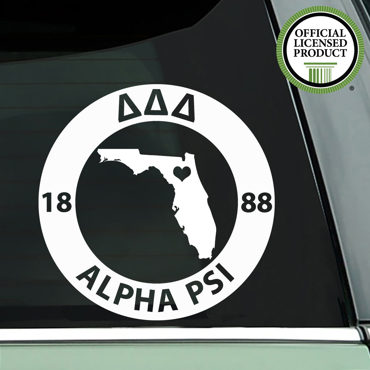 Brit and Bee Sorority State Decal - Delta Delta Delta