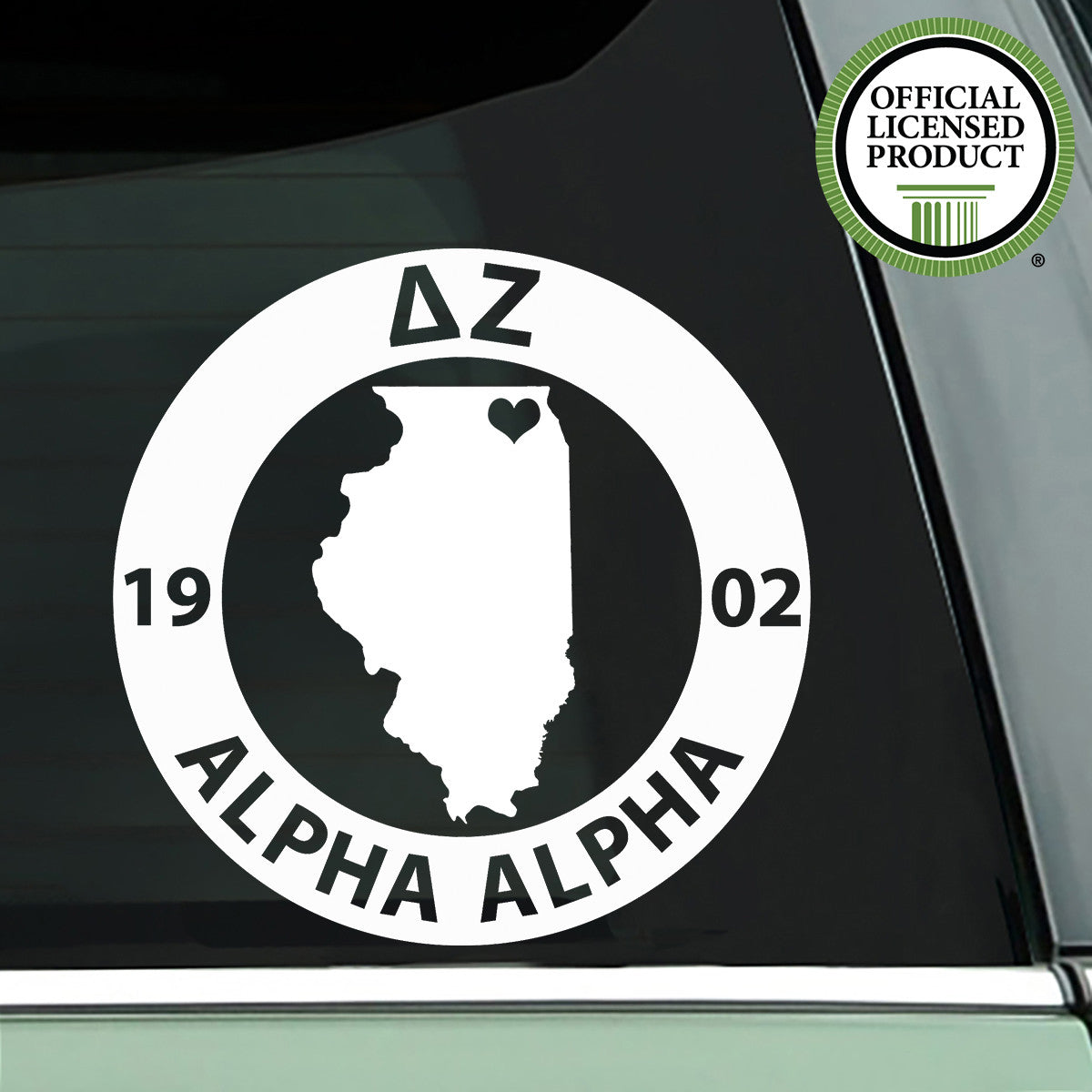 Brit and Bee Sorority State Decal - Delta Zeta
