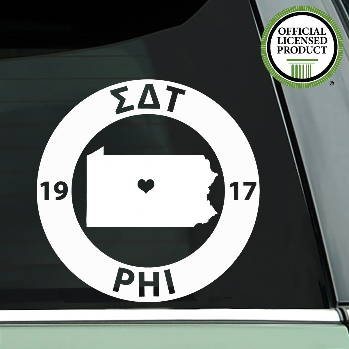 Brit and Bee Sorority State Decal - Sigma Delta Tau