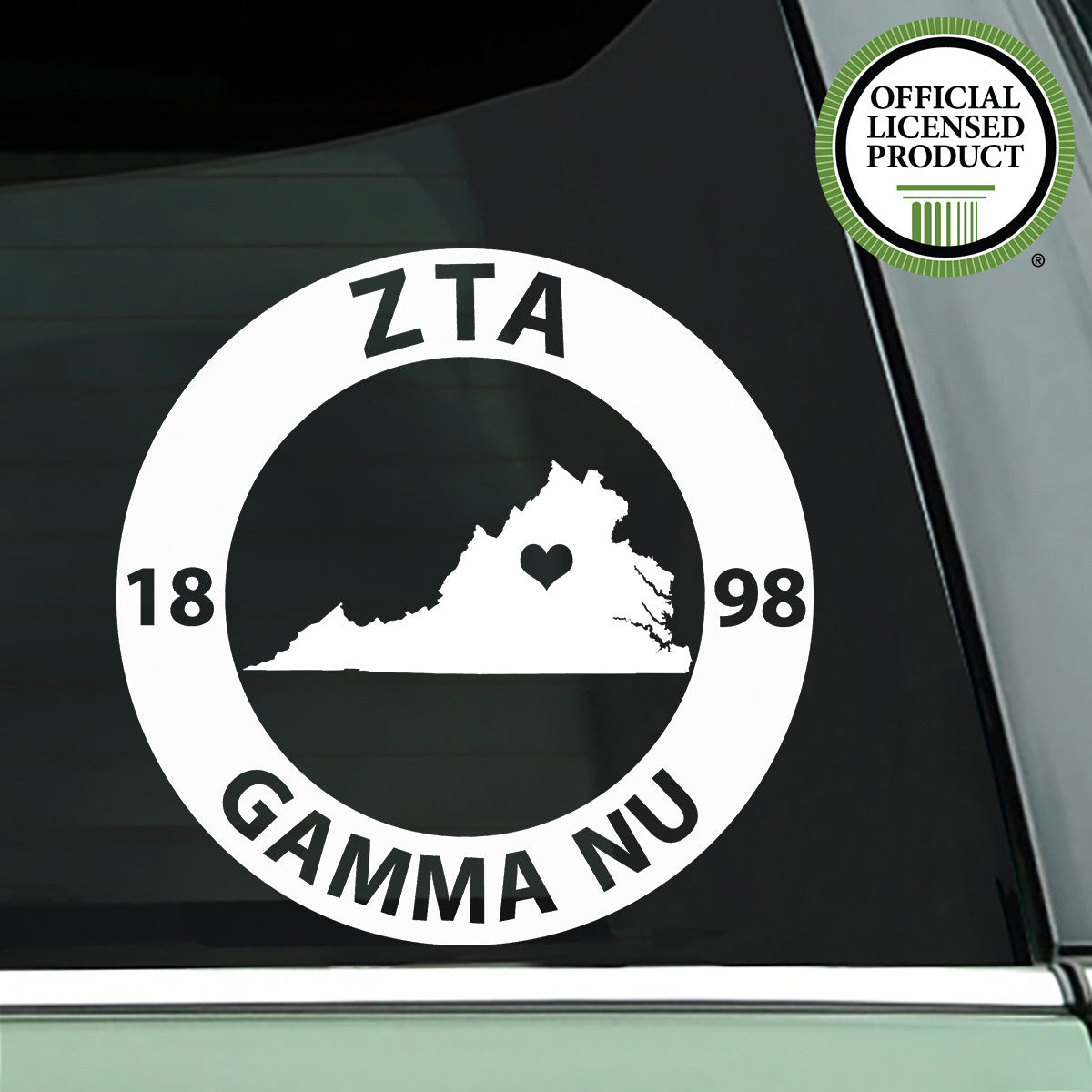 Brit and Bee Sorority State Decal - Zeta Tau Alpha