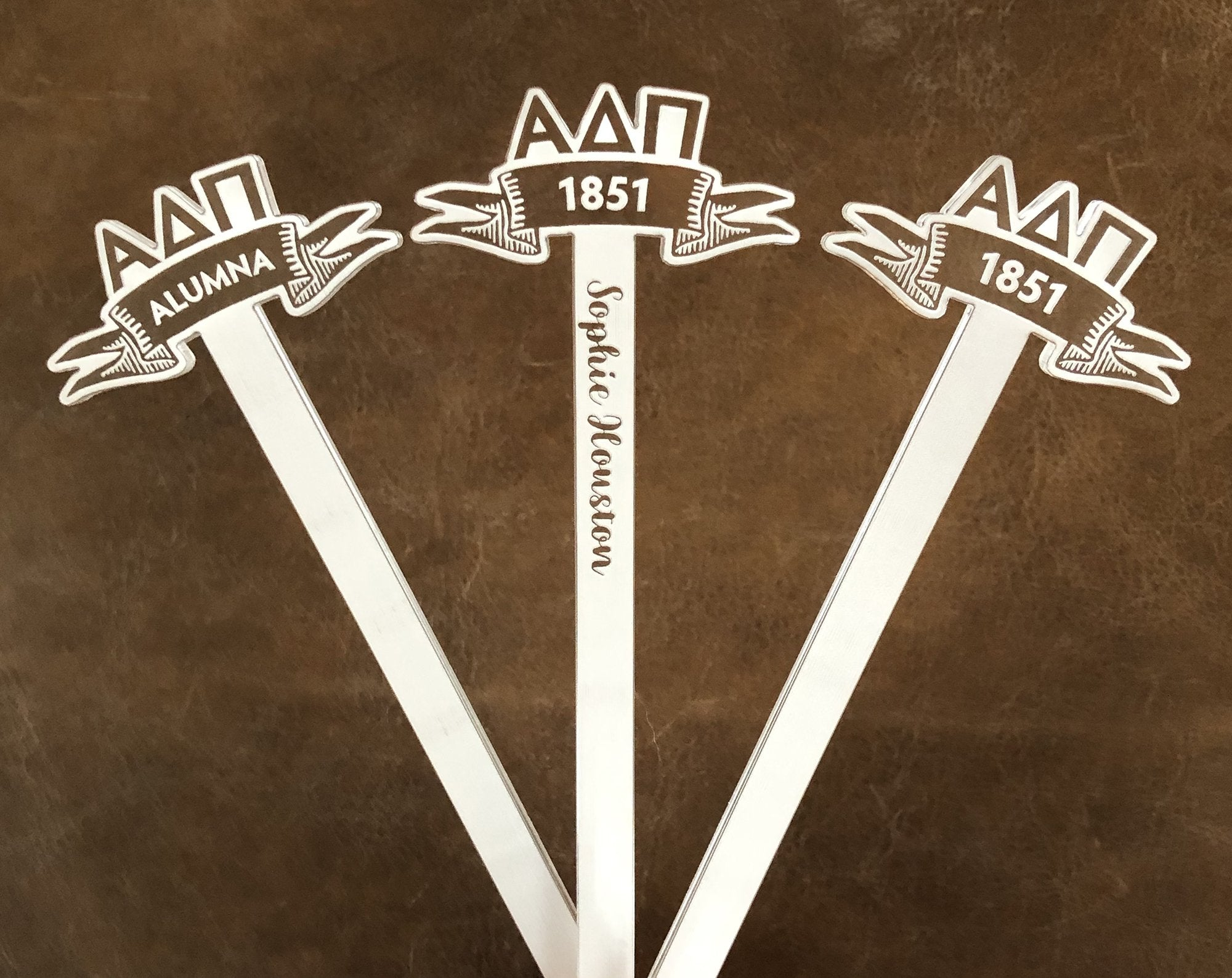 Alpha Delta Pi Swizzle Sticks | Brit and Bee