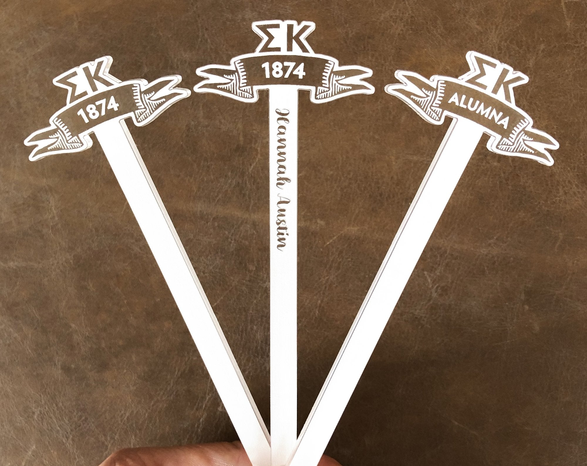 Sigma Kappa Swizzle Sticks | Brit and Bee