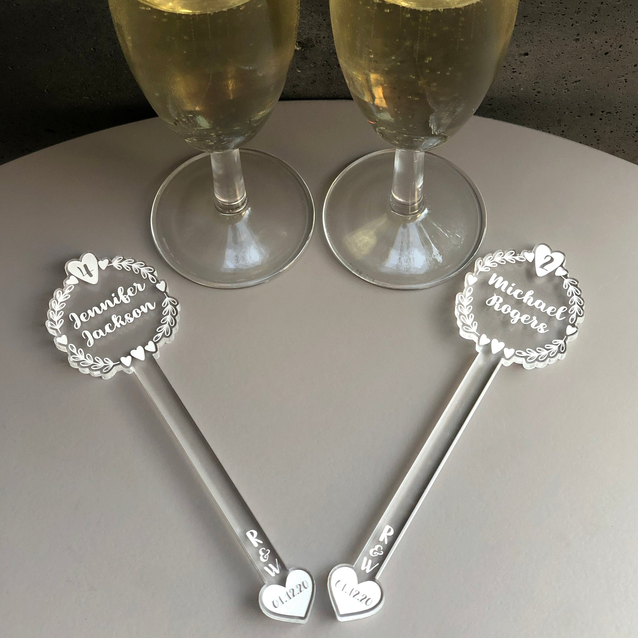 Wedding Table Place Name Swizzle Sticks | Brit and Bee