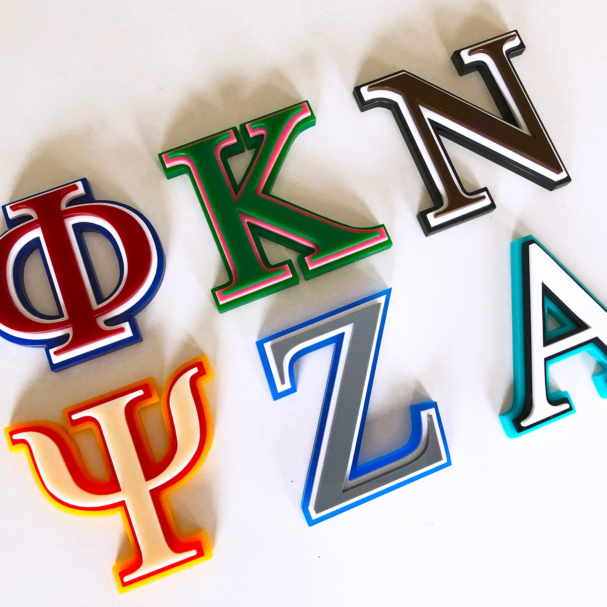 Greek Cut Letters - Triple Layer | Brit and Bee