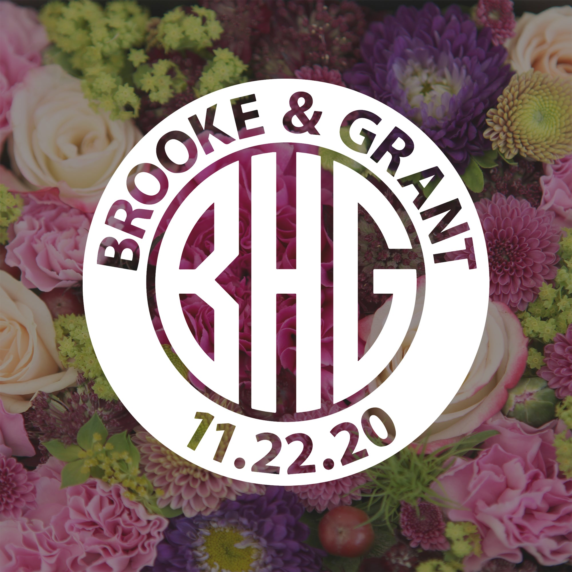 Wedding Monogram Decal | Brit and Bee
