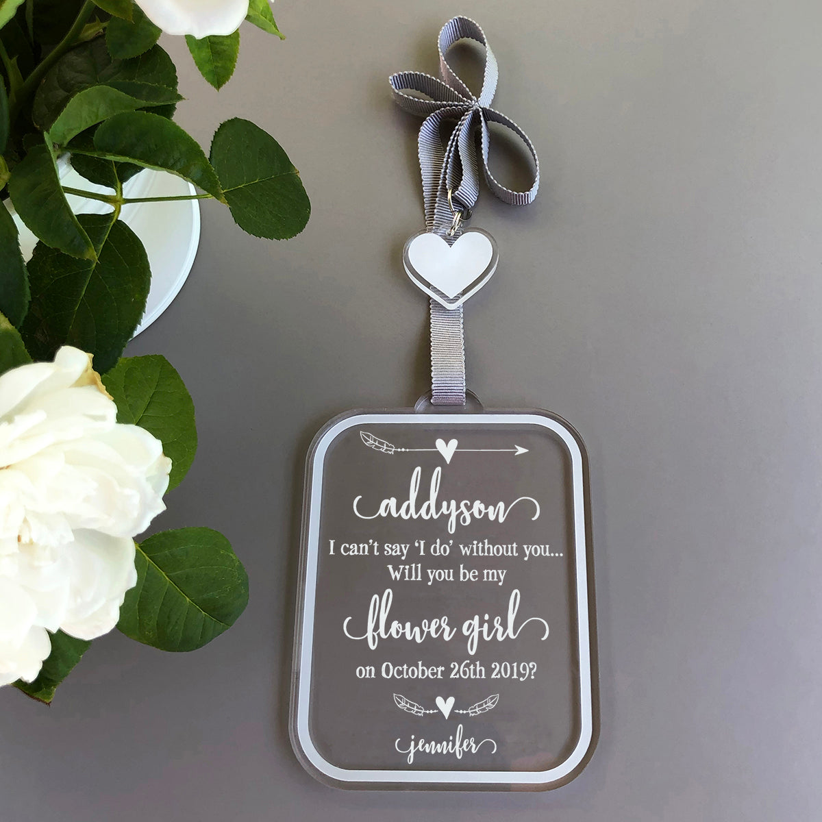 Will You Be My Flower Girl Ornament | Brit and Bee