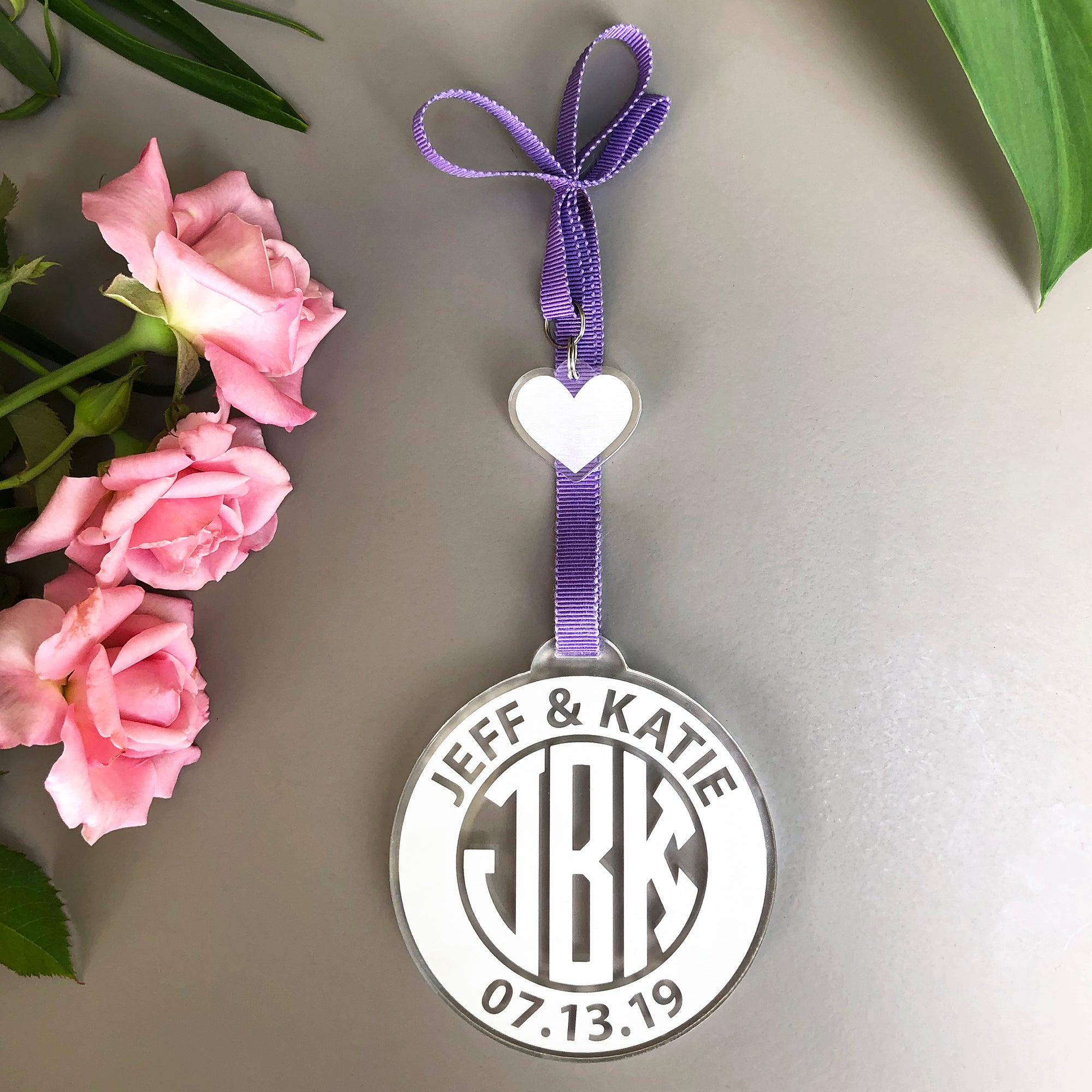 Wedding Monogram Ornament | Brit and Bee