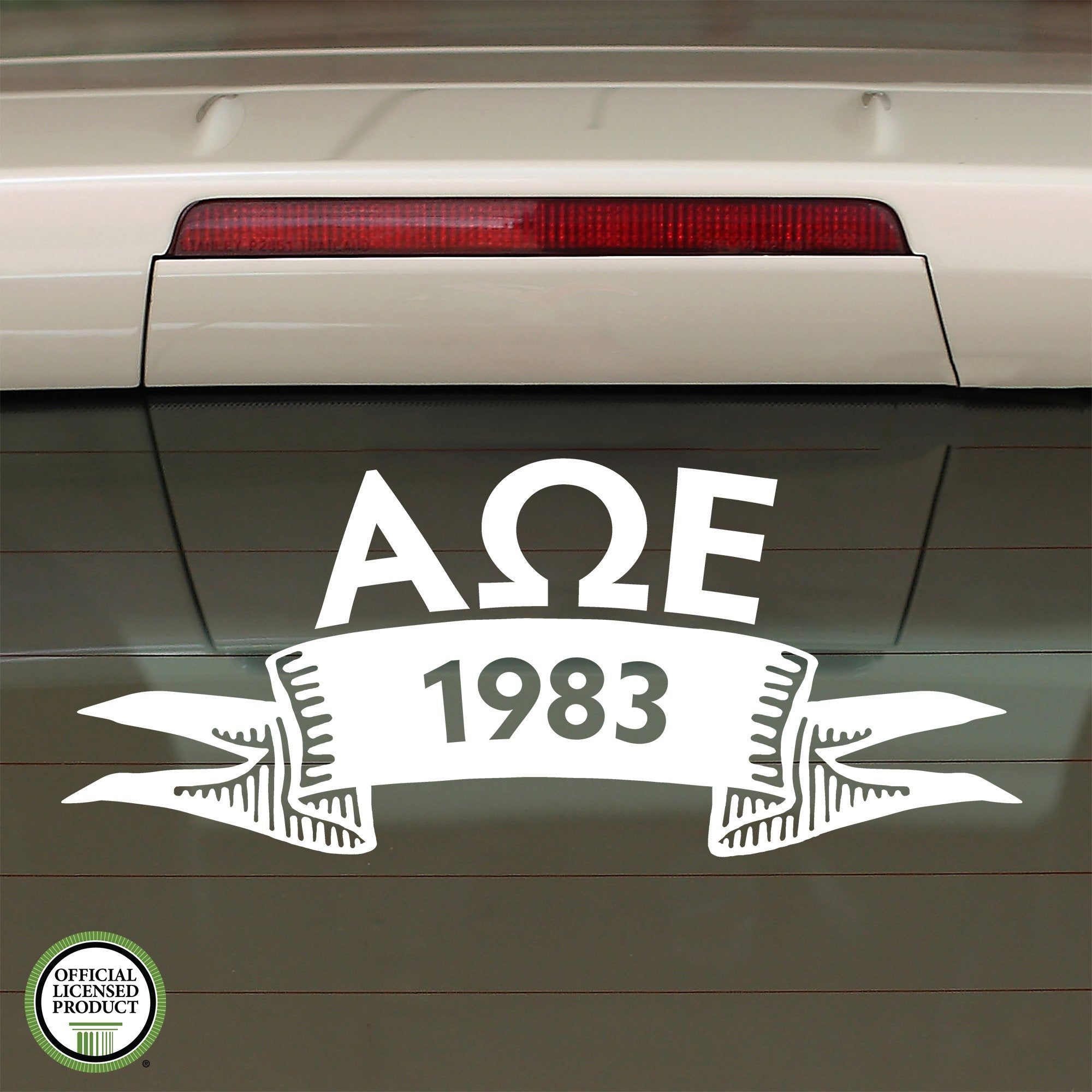 Alpha Omega Epsilon Year Decal | Brit and Bee