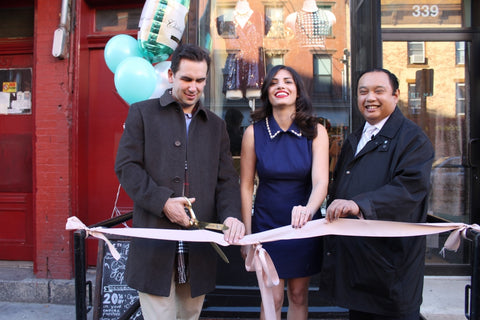Mint Market Jersey City ribbon cutting with Mayor Steven Flop