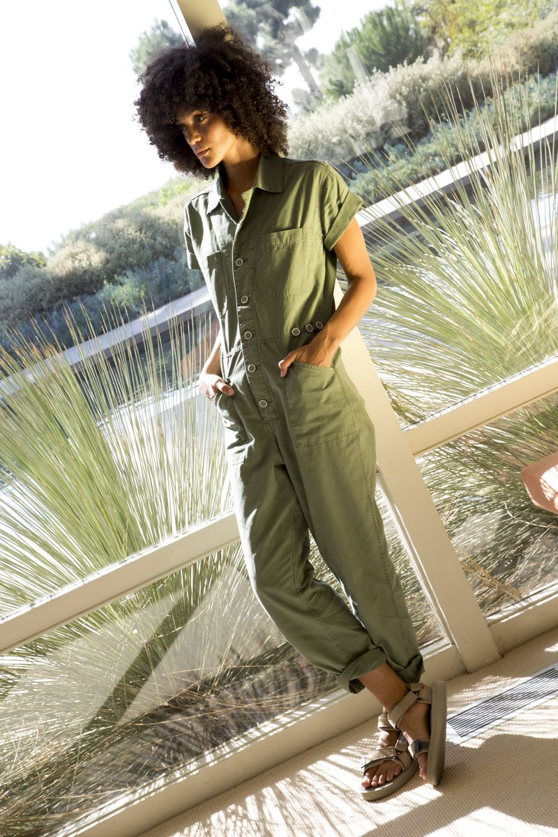Pistola - Grover Cotton Worker Jumpsuit - Colonel
