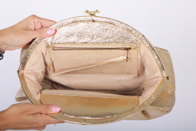 VTG 50s GOLD FRAME OVERSIZED BAG - Mint Market