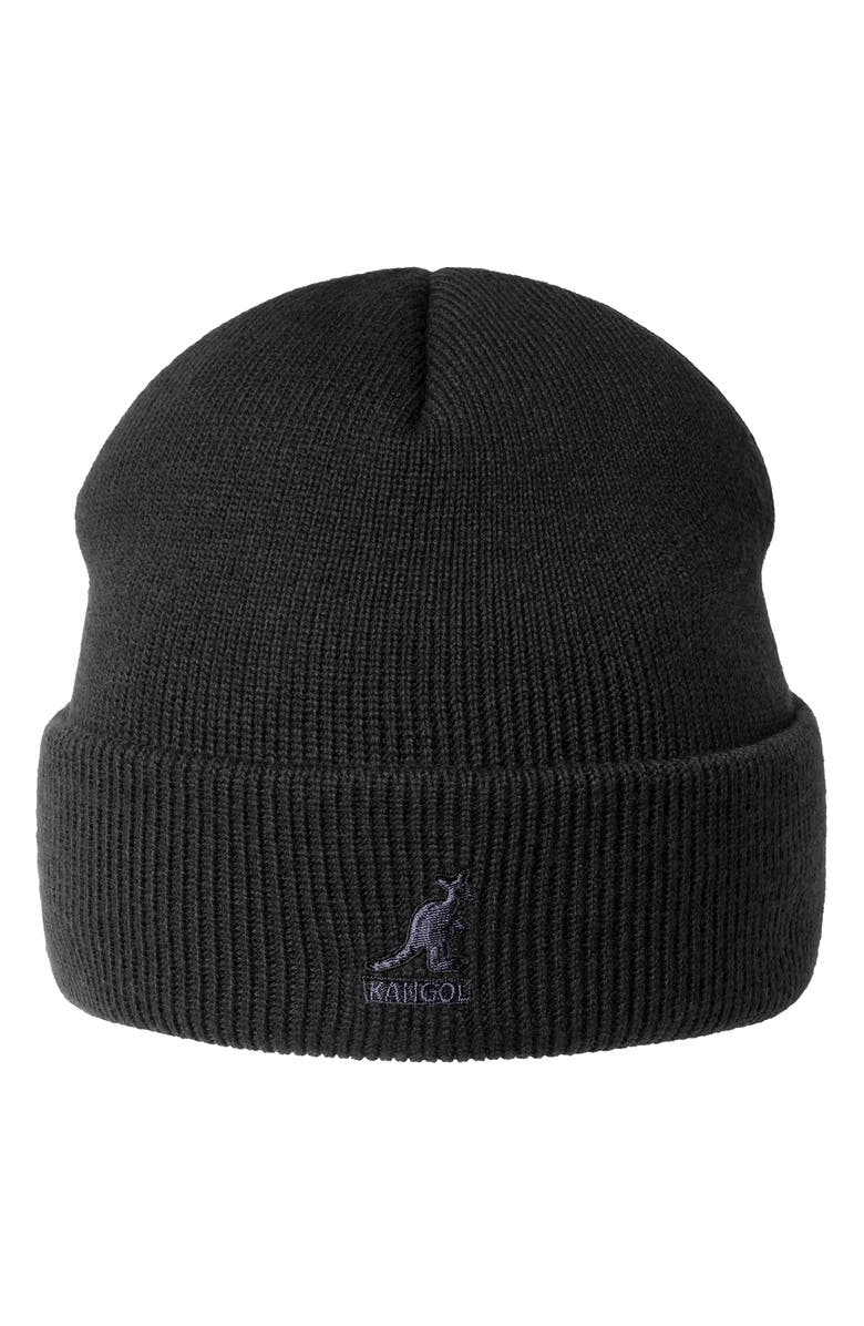 Kangol Acrylic Cuff Pull-On Unisex Beanie - Black on Black