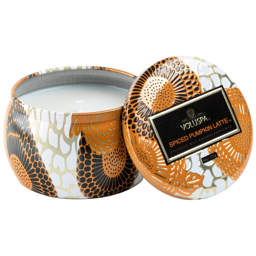 VOLUSPA SPICED PUMPKIN MINI TIN CANDLE