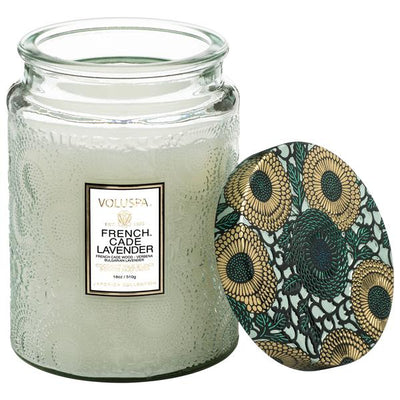 VOLUSPA - FRENCH CADE LAVENDER LARGE GLASS JAR CANDLE