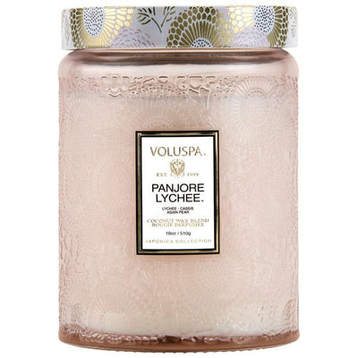 VOLUSPA - PANJOREE LYCHEE LARGE GLASS JAR CANDLE