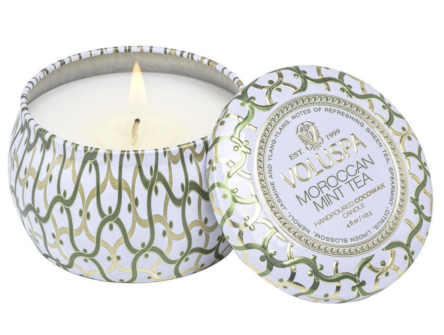 Voluspa Moroccan Mint Tea Mini Tin Candle