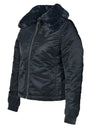 Schott - Women's Flight Satin Bomber Jacket - Black