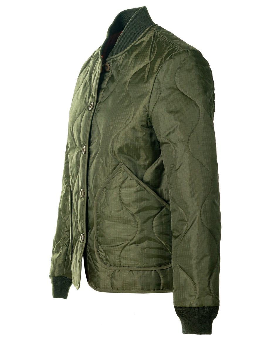 Schott - Quilted Bomber Jacket - Olive