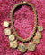 Vtg BEN AMUN Gold Coin Bib Necklace