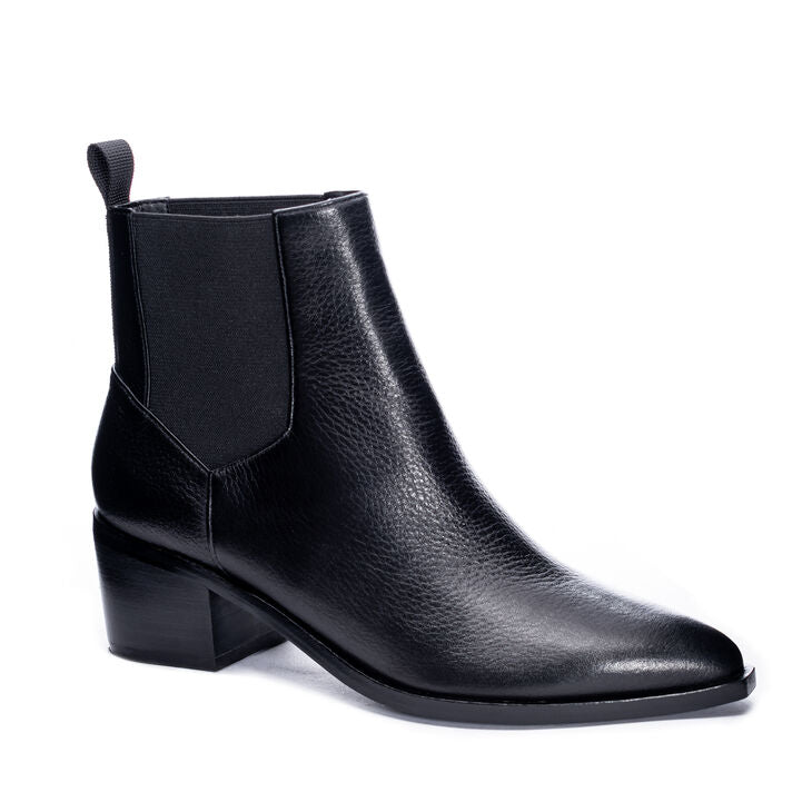 CHINESE LAUNDRY - FILIP LEATHER ANKLE BOOTIE