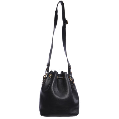 Dooney and Bourke Leather Bucket Drawstring Bag