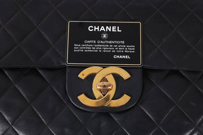 VTG CHANEL JUMBO XL LAMBSKIN LEATHER BAG - Mint Market