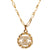 Vintage 90s Chanel CC Logo Gold Plated Chain Pendant Necklace